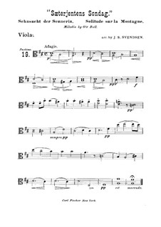 Sæterjentens Søndag (The Herdgirl's Sunday): Arrangement for string quintet  – viola part by Оле Булл