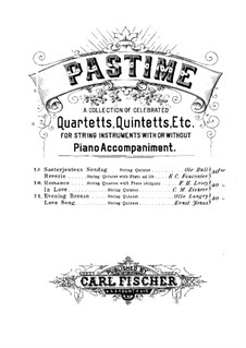 Sæterjentens Søndag (The Herdgirl's Sunday): Arrangement for string quintet  – violin I part by Оле Булл