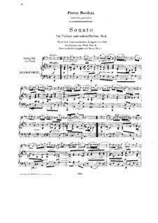 Соната для скрипки и бассо континуо ре мажор: Аранжировка для скрипки и фортепиано by Пьетро Нардини