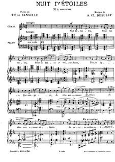 Звездная ночь, L.4: Клавир с вокальной партией (Французский текст) by Клод Дебюсси