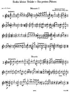 Шесть маленьких пьес для гитары: Весь сборник by Robert de Visée