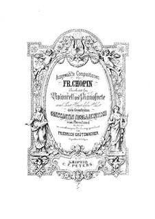 Избранные сочинения: Для виолончели и фортепиано by Фредерик Шопен