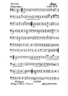 Большой блестящий вальс ми-бемоль мажор, Op.18: Для струнного квинтета – Партия контрабаса by Фредерик Шопен