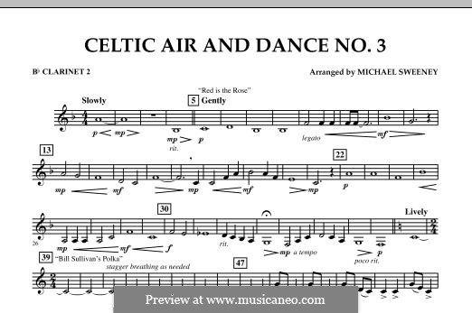 Celtic Air and Dance No.3: Bb Clarinet 2 part by folklore