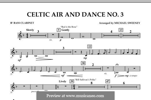 Celtic Air and Dance No.3: Bb Bass Clarinet part by folklore
