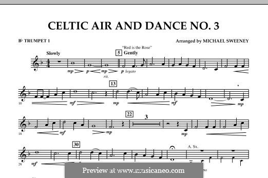 Celtic Air and Dance No.3: Bb Trumpet 1 part by folklore