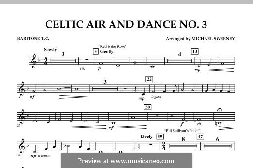 Celtic Air and Dance No.3: Baritone T.C. part by folklore