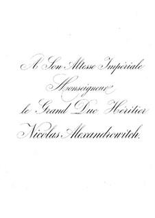 Сюита No.2, Op.38: Для фортепиано в 4 руки by Цезарь Кюи