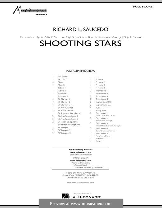Shooting Stars: Партитура by Richard L. Saucedo