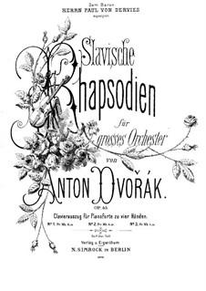 Рапсодия No.3 ля-бемоль мажор: Для фортепиано в 4 руки by Антонин Дворжак