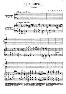 Концерт для фортепиано с оркестром No.1, Op.15: Версия для двух фортепиано в 4 руки by Людвиг ван Бетховен