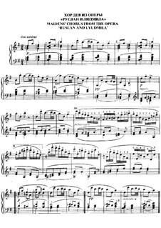Хор дев: Для фортепиано by Михаил Глинка