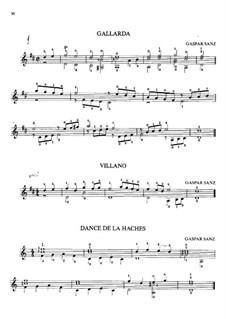 Пьесы для гитары: Пьесы для гитары by Гаспар Санц