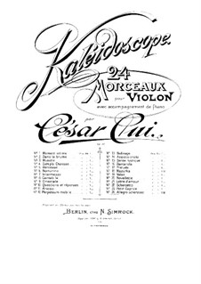 No.24 Allegro scherzoso: Партитура by Цезарь Кюи
