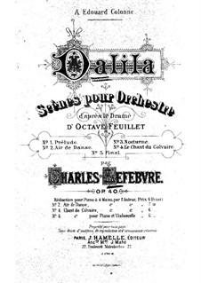 Далила, Op.40: Для фортепиано в 4 руки by Шарль Лефевр