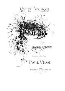 Vague tristesse: Vague tristesse by Поль Видаль
