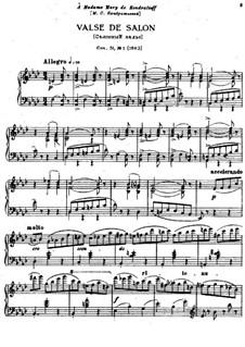 Шесть пьес для фортепиано, TH 143 Op.51: No.1 Салонный вальс by Петр Чайковский