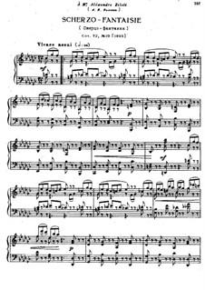 Восемнадцать пьес для фортепиано, TH 151 Op.72: No.10 Скерцо-фантазия by Петр Чайковский