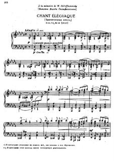 Восемнадцать пьес для фортепиано, TH 151 Op.72: No.14 Элегическая песнь by Петр Чайковский