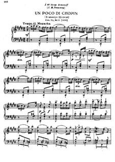 Восемнадцать пьес для фортепиано, TH 151 Op.72: No.15 Un poco di Chopin by Петр Чайковский