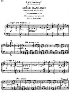 Восемнадцать пьес для фортепиано, TH 151 Op.72: No.18 Танцевальная сцена. Приглашение на трепак by Петр Чайковский