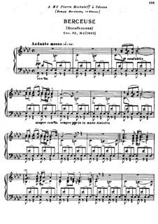 Восемнадцать пьес для фортепиано, TH 151 Op.72: No.2 Колыбельная песня by Петр Чайковский