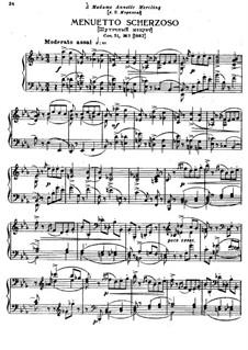 Шесть пьес для фортепиано, TH 143 Op.51: No.3 Шуточный менуэт by Петр Чайковский