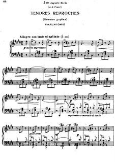 Восемнадцать пьес для фортепиано, TH 151 Op.72: No.3 Нежные упрёки by Петр Чайковский