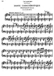 Восемнадцать пьес для фортепиано, TH 151 Op.72: No.4 Характерный танец by Петр Чайковский