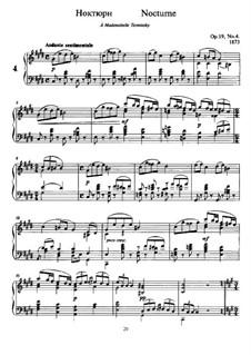 Шесть пьес для фортепиано, TH 133 Op.19: No.4 Ноктюрн by Петр Чайковский