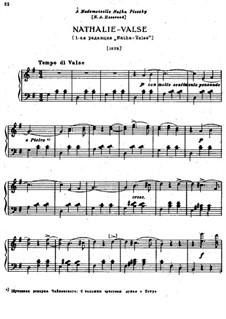 Шесть пьес для фортепиано, TH 143 Op.51: No.4 Ната-вальс by Петр Чайковский
