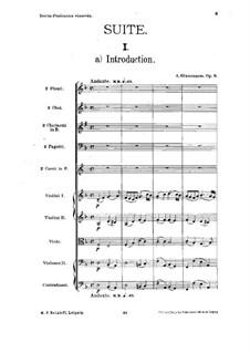 Характеристическая сюита, Op.9: Партитура by Александр Глазунов