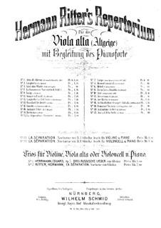 Разлука: Для скрипки, виолы-альта (или виолончели) и фортепиано – партитура by Михаил Глинка