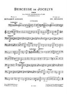 Колыбельная: Для скрипки, виолончели, фортепиано и контрабаса (ad libitum) – партия контрабаса by Бенжамин Годар
