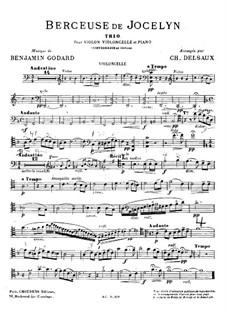 Колыбельная: Для скрипки, виолончели, фортепиано и контрабаса (ad libitum) – партия виолончели by Бенжамин Годар