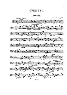 Фортепианный квинтет No.1 си-бемоль мажор, Op.30: Партии альта и виолончели by Карл Голдмарк