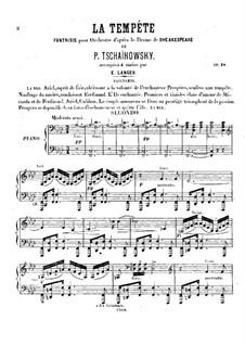 Буря, TH 44 Op.18: Для фортепиано в 4 руки by Петр Чайковский