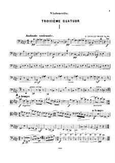 Струнный квартет No.3 ми-бемоль мажор, TH 113 Op.30: Партия виолончели by Петр Чайковский