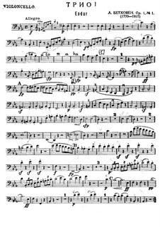 Три фортепианных трио, Op.1: Трио No.1 – партия виолончели by Людвиг ван Бетховен