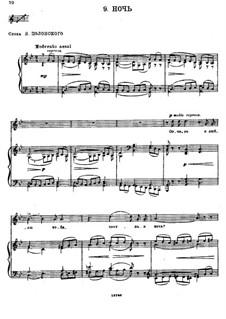 Двенадцать романсов, TH 106 Op.60: No.9 Ночь by Петр Чайковский