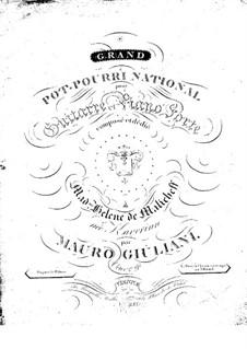 Большое попурри для гитары и фортепиано, Op.92: Партии by Мауро Джулиани