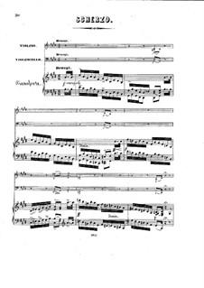 Фортепианное трио си-бемоль мажор, Op.4: Части III-IV – партитура by Карл Голдмарк