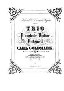 Фортепианное трио си-бемоль мажор, Op.4: Части I-II – партитура by Карл Голдмарк
