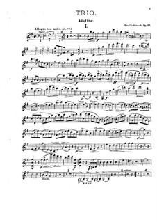 Фортепианное трио ми минор, Op.33: Партии скрипки и виолончели by Карл Голдмарк