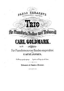 Фортепианное трио ми минор, Op.33: Партитура by Карл Голдмарк
