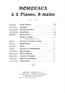 Fête de Jupiter: Для двух фортепиано в 8 рук – партия I фортепиано by Шарль Гуно