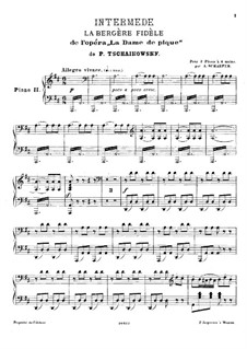 Интермедия 'Искренность пастушки': Для двух фортепиано – партия второго фортепиано by Петр Чайковский