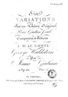 Шесть вариаций для гитары, Op.20: Для одного исполнителя by Мауро Джулиани