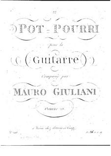 Попурри для гитары, Op.28: Попурри для гитары by Мауро Джулиани