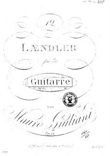 Двенадцать лендлеров для гитары, Op.44: Двенадцать лендлеров для гитары by Мауро Джулиани